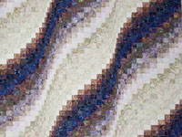 Queen Bargello Wave in Batiks Most beautiful lilacs, plums and neutral