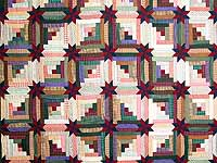 Multicolor Colorado Log Cabin Quilt