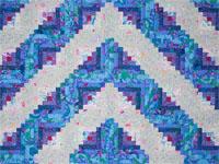 Log Cabin Simplicity -  Queen quilt using Designer Kaffee Fassett's fabrics!!