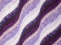 Queen Bed  Bargello Wave in Batiks Shades of purple