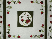 I Promised you a Rose garden Queen Quilt with appliqued shams included