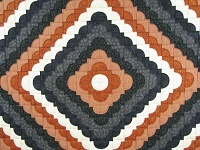 Burnt Orange and Black Ocean Wave Quilt