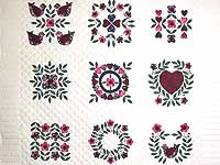 Baltimore Album Sampler Applique Quilt