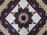 Queen Lone Star Log Cabin Quilt