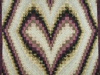 Plum and Beige Bargello Heart