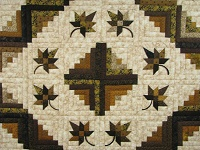 Earth tones Log Cabin Splendor Quilt