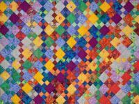Diagonal Madness using  Kaffe Fassett Designer Fabrics