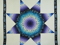 Purple and Teal Lone Star Quilt