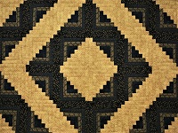 Log Cabin Navy and Deep Tan Quilt
