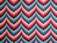 Rose and Blue Bargello Quilt