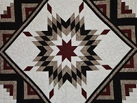 Black Tan Burgundy Lone star Log Cabin