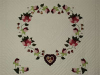 Heart of Roses - Queen size Burgundy and Rose