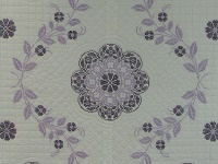 Lavender Cross Stitch Floral Quilt