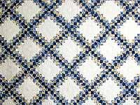 Blue and Yellow Irish Chain Quilt