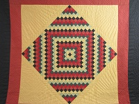 Amish Sunshine Diamond Southwest Colors Quilt