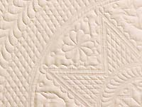 Cream All Quilted Heirloom Quilt