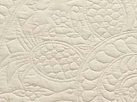Cream All Quilted Pineapple Quilt