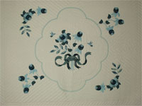 Lancaster Treasure in Blues King size hand appliqued