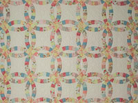 King Pastels  Double Wedding Ring Quilt