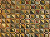 Homespun Plaid Squares Quilt