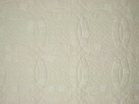 King Neutrals  Double Wedding Ring Quilt