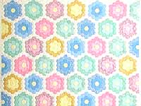 Pastel Multicolor Flower Garden Quilt