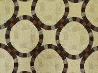 Brown and Tan Wedding Ring Quilt