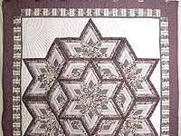 Lavender Diamond Log Cabin Star Quilt