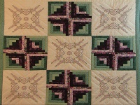 Cross Stitch Log Cabin Quilt