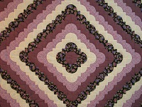 King Lavender Ocean Waves Quilt