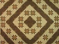 Earthtones Evening Star Cabin Quilt