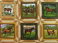 Chestnut Brown Horse Star Quilt