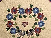 King Blue Rose Tan Sweetheart Sunshine and Shadow Quilt