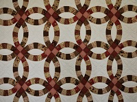 King Double Wedding Ring Quilt