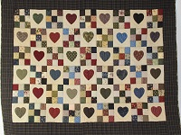 Hearts and Nine Patch Throw