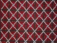 Dark Red and Green Pinwheel Cornerstone Quilt
