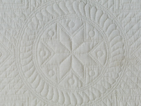Heirloom All Quilted,  All Natural Muslin