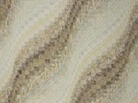 Bargello Wave in Earthy Neutrals QUEEN size bed quilt