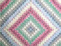 Pastel Trip Around the World Quilt