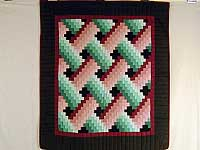 Rose and Green Weavers Fever Wall Hanging