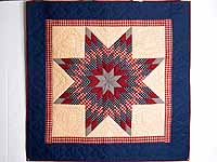 Plaid Navy Red and Tan Lone Star Wall Hanging