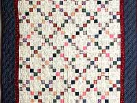 Plaid Multicolor Nine Patch Crib Quilt