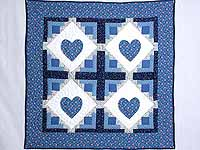 Blue Hearts in the Cabin Wall Hanging