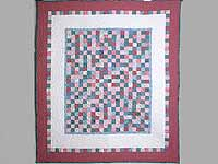 Cranberry Hit or Miss Throw Crib Quilt