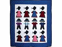 Amish Clothes Small Crib Quilt