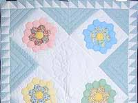 Pastel Flower Garden Crib Quilt