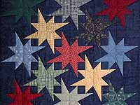 Navy Star Bright Wall Hanging