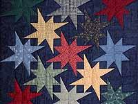 Navy Star Bright Wall Hanging