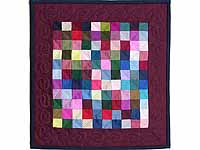 Mini Almost Amish Postage Stamp Quilt