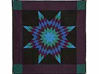 Amish Woolen Lone Star Wall Hanging